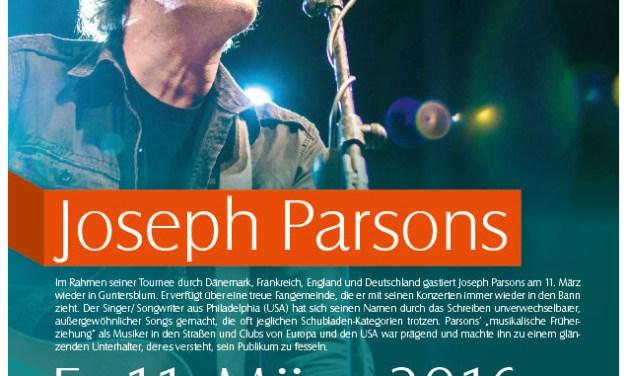 Singer/Songwriter Joseph Parsons am 11. März im Guntersblumer Museumskeller