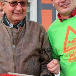 Benjamin Nofz hatte die Idee zur Wette und gehört mit zu den Organisatoren des Müritzschwimmens.