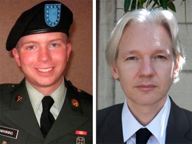 Image result for julian assange and manning