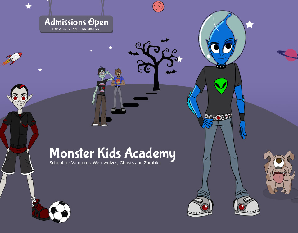 Monster Kids Academy Website Design & Development