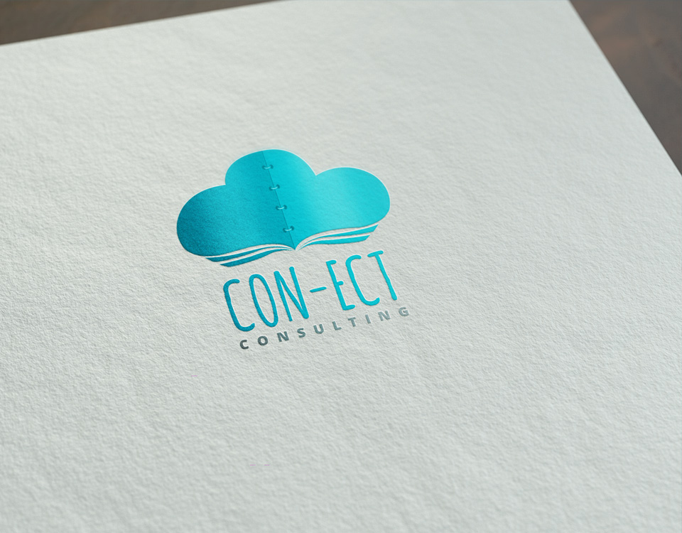 connect-consulting logo design
