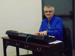 Rich Wallen provided music for the breakfast