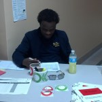 SGA Historian Dominic Harris keeps track of donors coming in