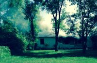 This house on 200 South east of 200 east was in flames when the Knox-Center Township Volunteer Fire Department arrived Friday afternoon.