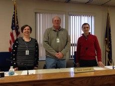 Marshall County Commissioners (L to R) Deb Griewank, Kevin Overmyer and Kurt Garner