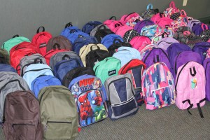 Over 250 students received packed backpacks courtesy of the Pack A Backpack program sponsored by Kankakee Valley REMC.