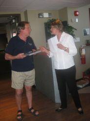 Retiree Dean Knight and Judy Bates