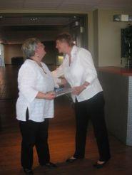 Retiree Joyce Lorimer and Judy Bates