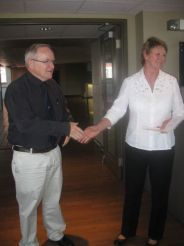 Retiree Robert G. Rosehart and Judy Bates