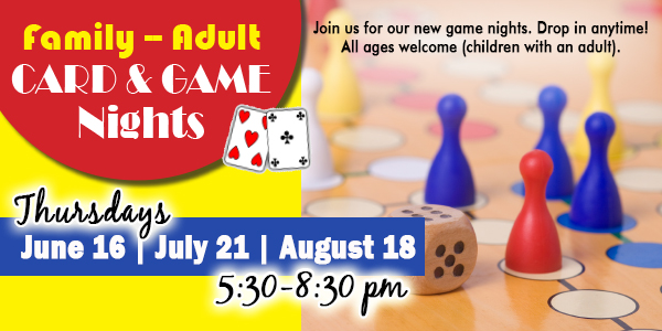family and adult card & game night