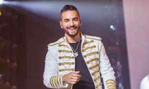 BARCELONA, SPAIN - SEPTEMBER 17:  Maluma performs in concert at Palau Sant Jordi on September 17, 2017 in Barcelona, Spain.  (Photo by Xavi Torrent/WireImage)