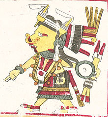 A depiction of Tlazoteotl, styled as in the Codex Borgia manuscript.