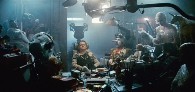 JF Sebastian (Blade Runner) surrounded by his manufactured friends