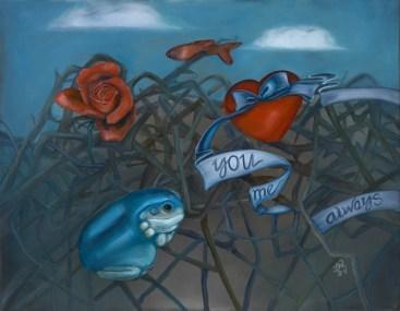 "DETRITUS | 2011 | oil on canvas, 25"" x 21"""