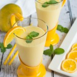 Smooth, refreshing and delicious Orange and Mango Lassi. A smoothie you can enjoy during any season, and pairs exceptionally well with spicy dishes.