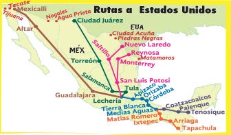 The NAFTA Railroad, showing how to use it to get to America.