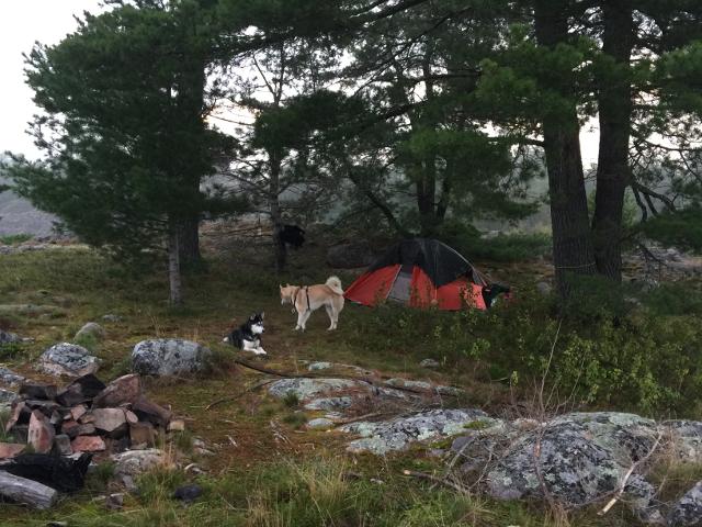 camp site island
