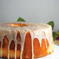Chiffon Cake with Pineapple Glaze