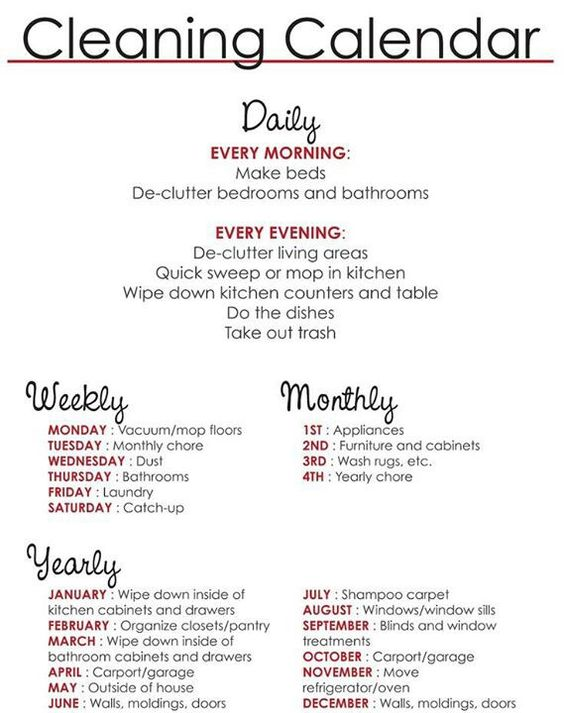 Easy Cleaning schedule for working moms - Women Fitness Magazine