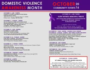 Calendar of public events