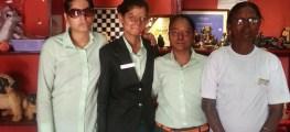 Staff at the cafe- Farah, Ritu, Dolly and Geeta (L-R)