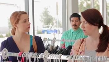 Pregnant woman receiving advice