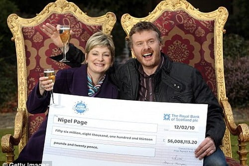 Lottery Games Winner couple