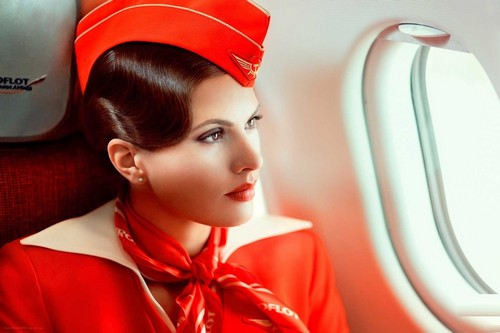 aeroflot air hostess