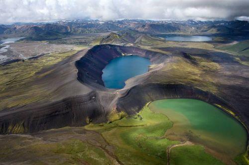 Ηφαίστειο στην Ισλανδία λίμνη