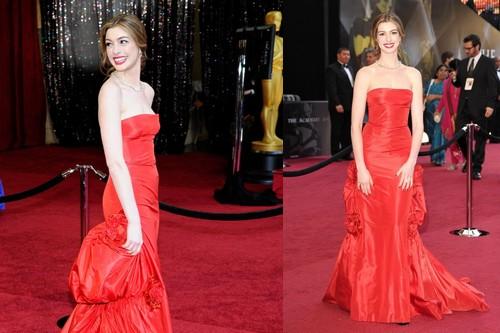 Anne Hathaway, 2011 oscar dress