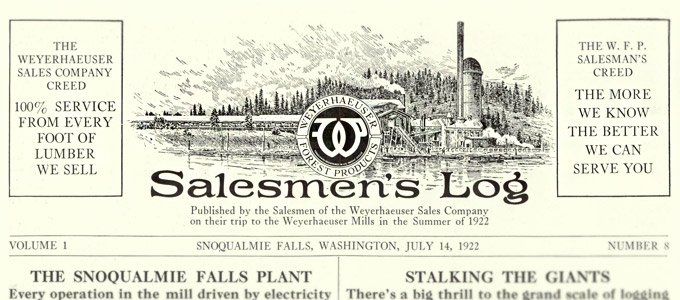 From the archives: 1922′s cross-country Weyerhaeuser mill tour