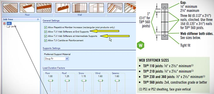 TJI® Joist Reactions, Web Stiffeners Requirements & Forte® Software Analysis
