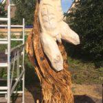 Torso man eiken sculptuur Boornbergum 3 meter