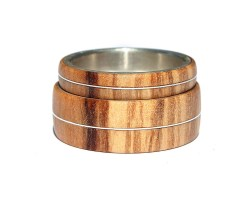 Small Of Wooden Wedding Rings