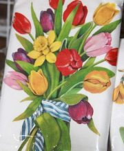 kitchen towel tulip bouqet