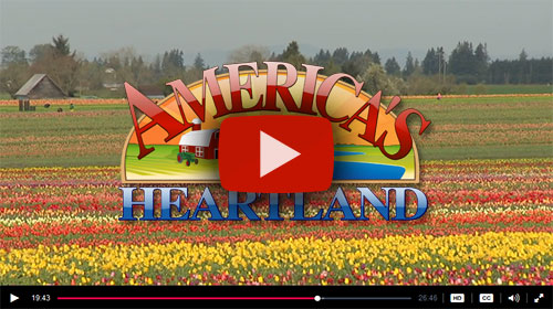 America's Heartland features WoodenShoe Tulip Farm