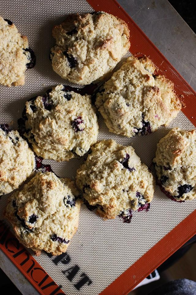 gluten-free blueberry scones
