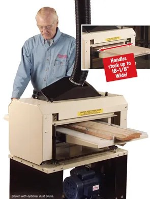 "Here's a photo from our Woodmaster catalog of the 718 Molder/Planer. It handles stock up to 18-1/2"" wide and is our best-selling Molder/Planer."