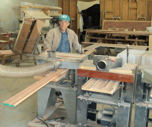 Here's Charlie Pearson in his shop running crown molding on one of his four Woodmaster Molder/Planers. When his employer closed their doors, Charlie got serious about woodworking and the rest took care of itself.
