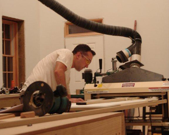 Mike at work on his Woodmaster 725