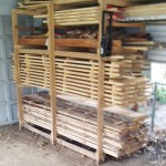 Every woodworker's dream: a never ending supply of FREE hardwood boards. Matt gets 'em when he demos TimberKing Sawmills, takes 'em home, air dries 'em, and turns 'em into tables, cabinets, benches, and much more with his Woodmaster. Oak, sycamore, basswood in Matt's stack.
