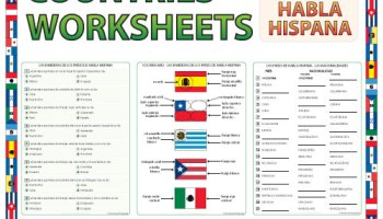 Spanish-speaking Countries and Capitals Word Search – Sopa de ...