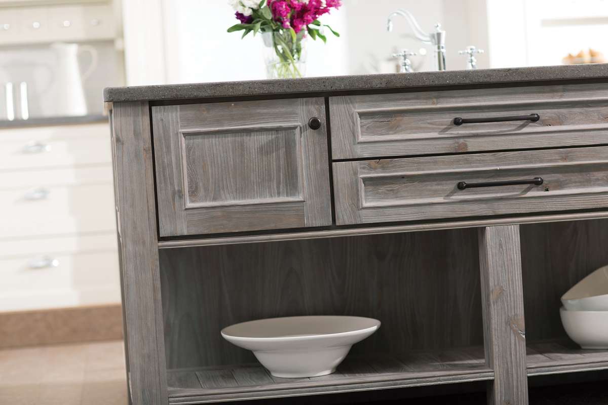 gray finishes continue popularity kitchen cabinet stain Weathered gray kitchen cabinetry finishes both painted and stained gain popularity