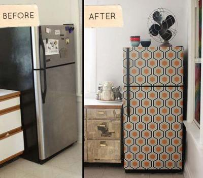 27 Cool DIY Furniture Makeovers with Wallpaper