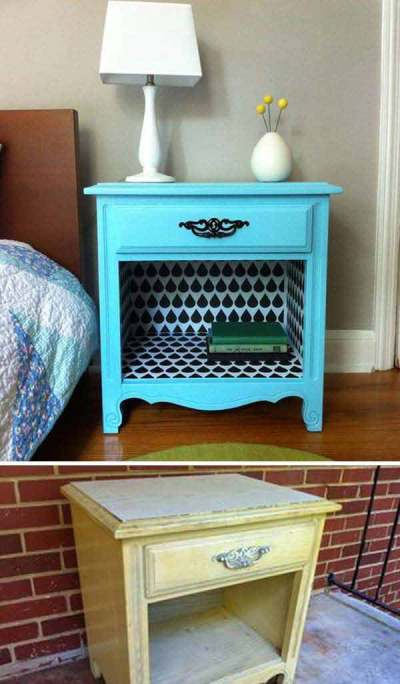27 Cool DIY Furniture Makeovers with Wallpaper - Amazing DIY, Interior & Home Design