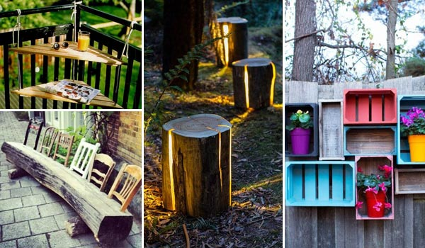 Simple Diy Patio Decorating Ideas 27 Reclaimed Wood Projects Throughout