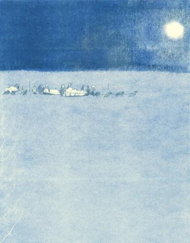 Alaska dog sledding print