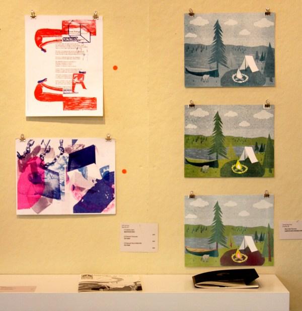Soft City Press, Test Prints (left) Smarty Pants Paper Co., Campsite Progress Prints (right)