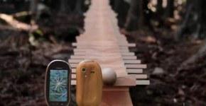 Publicidad del celular  toque madera
