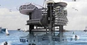 Reciclaje, Conjunto habitacional en el mar sobre plataforma petrolera
